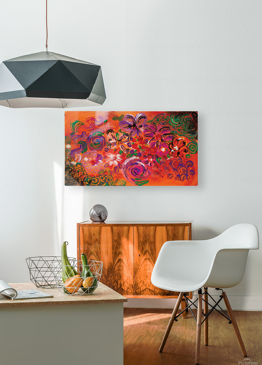 abstract colorful garden  HD Metal print with Floating Frame on Back