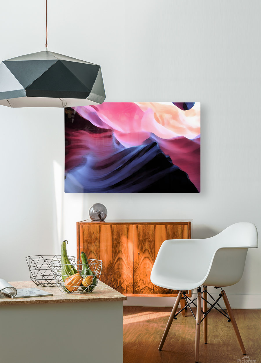 Blue Canyon  HD Metal print with Floating Frame on Back