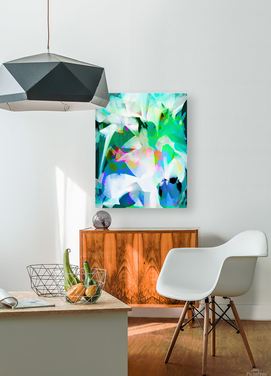 Snowdrops in Spring  HD Metal print with Floating Frame on Back