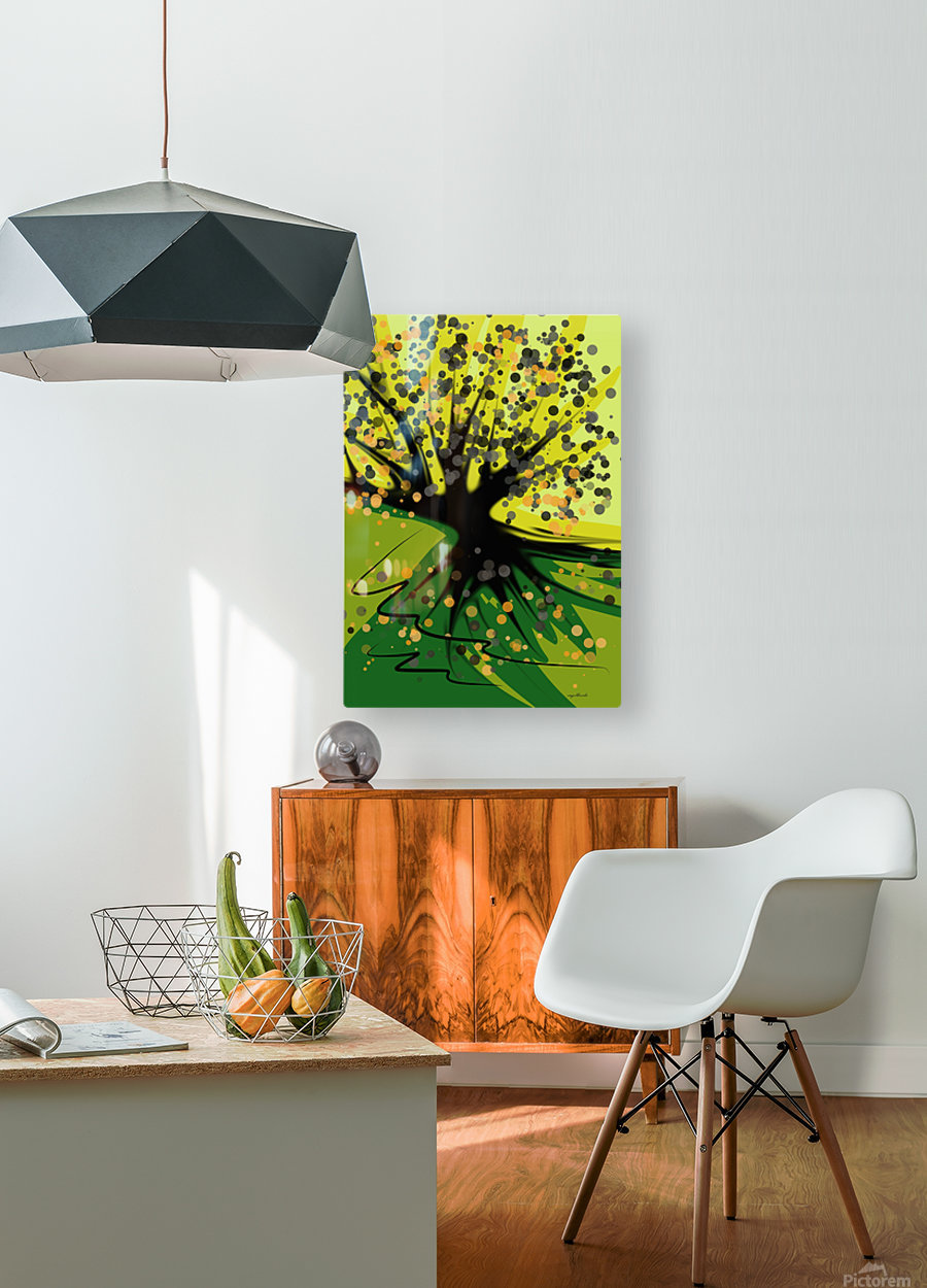 falling leaves  HD Metal print with Floating Frame on Back