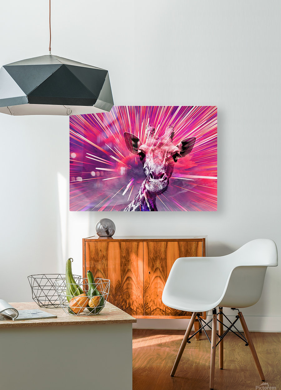 Giraffe pop 5  HD Metal print with Floating Frame on Back