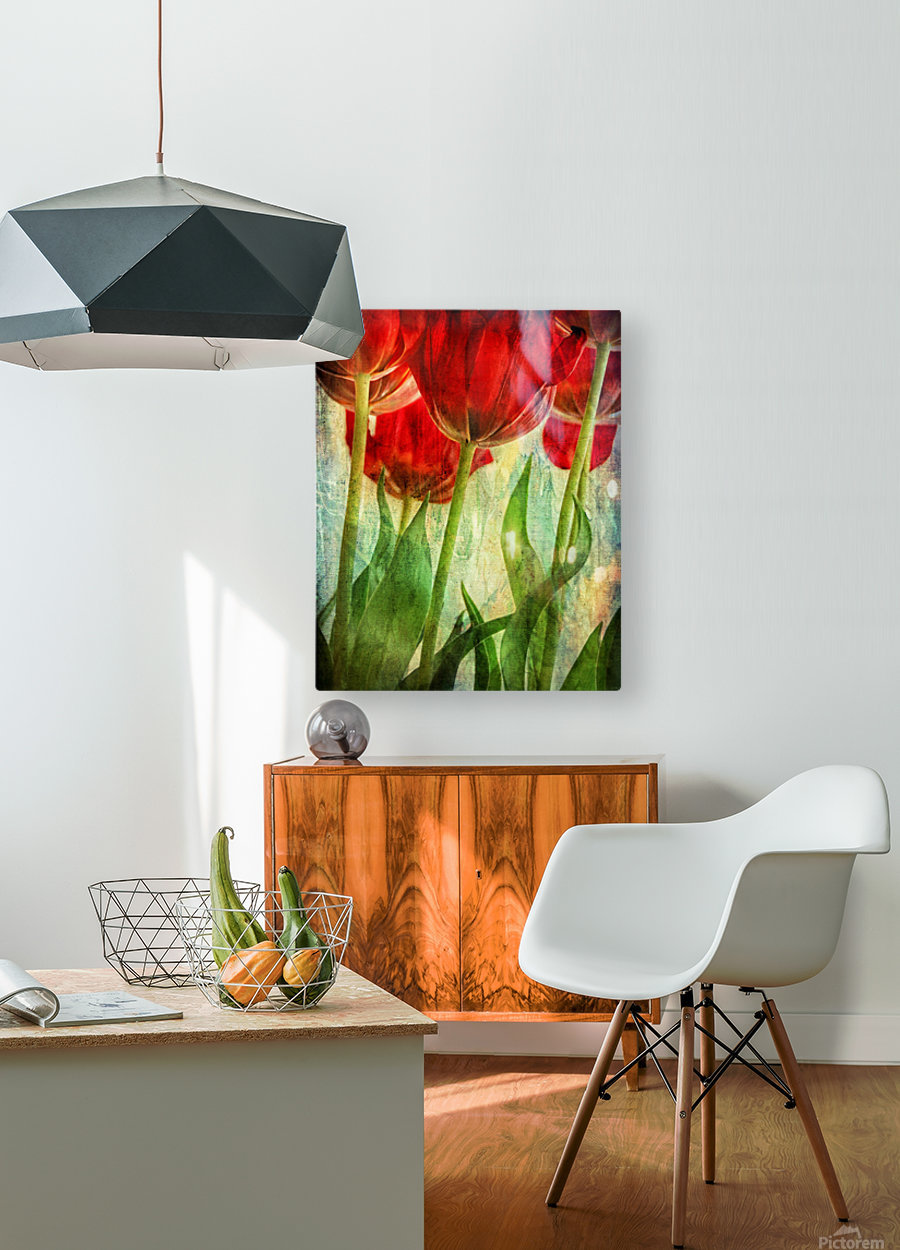 Tulips  HD Metal print with Floating Frame on Back