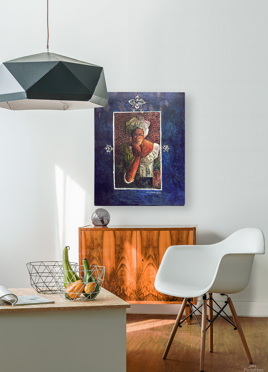 Femme au turban  HD Metal print with Floating Frame on Back