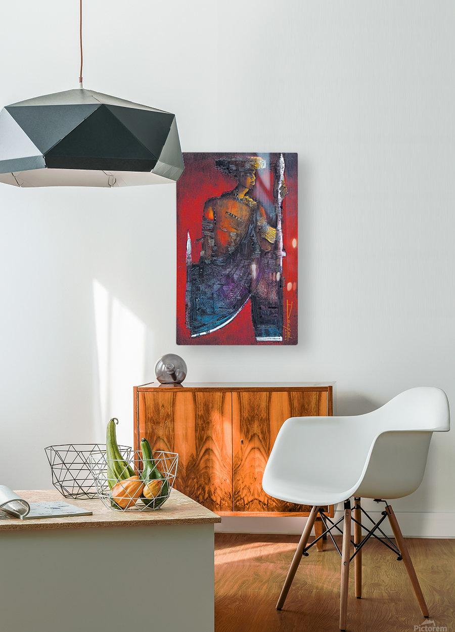 Red Massai  Impression métal HD avec cadre flottant sur le dos
