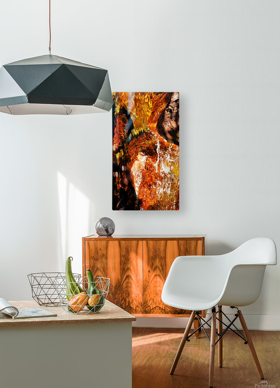 Australia Rocks - Abstract 36  HD Metal print with Floating Frame on Back