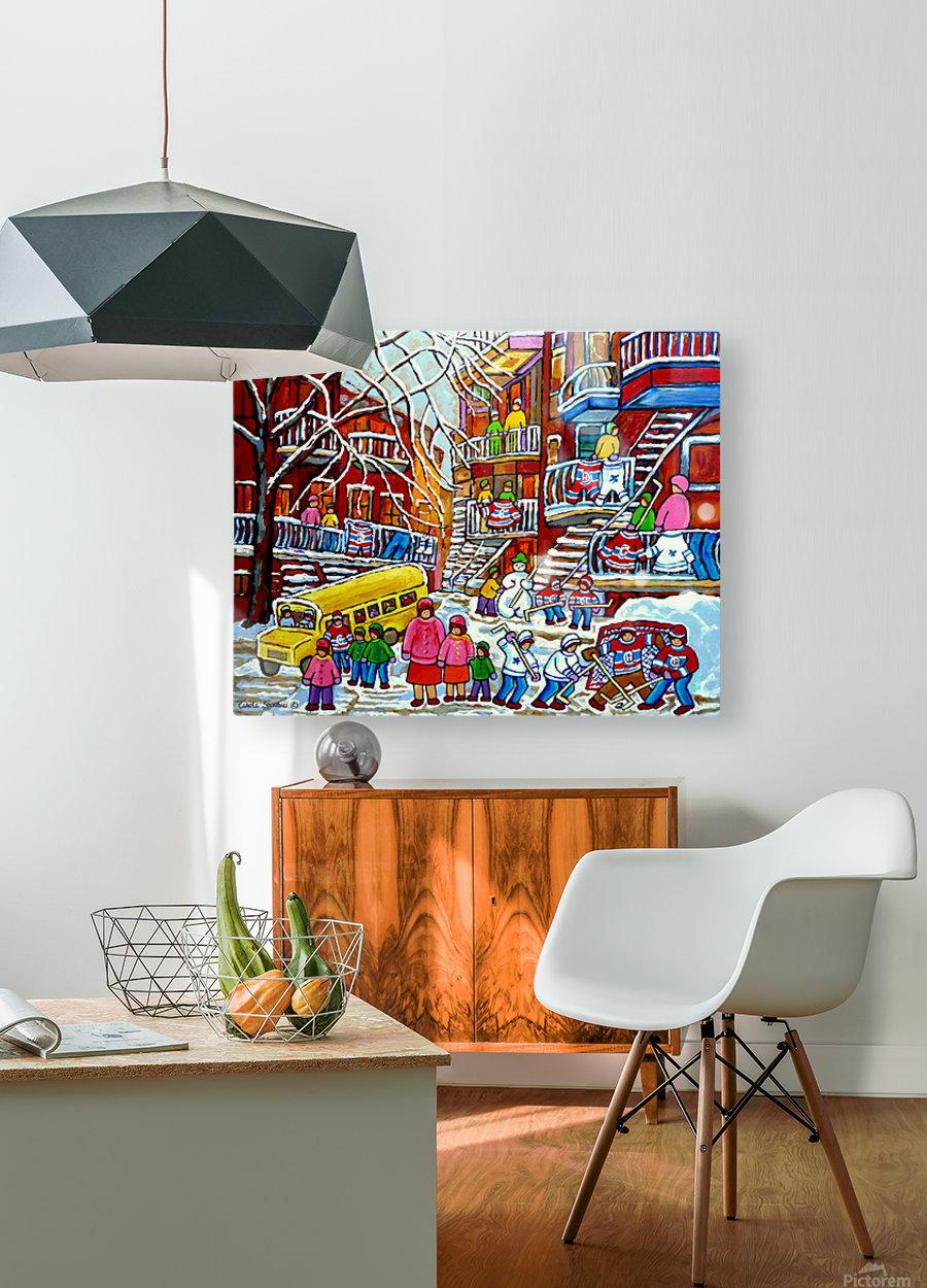 WINTER  WONDERLAND MONTREAL PAINTINGS   HD Metal print with Floating Frame on Back
