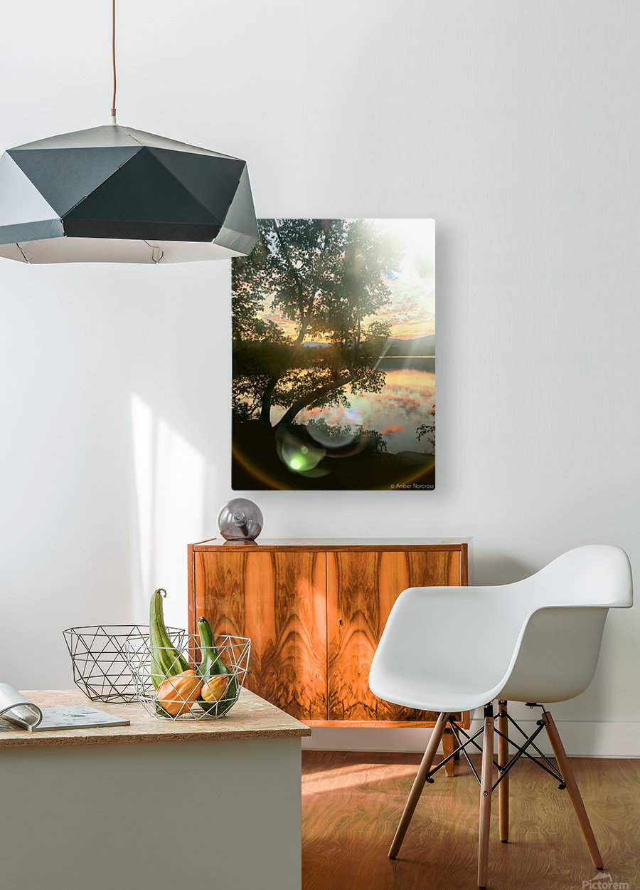 Stunning sunset  HD Metal print with Floating Frame on Back