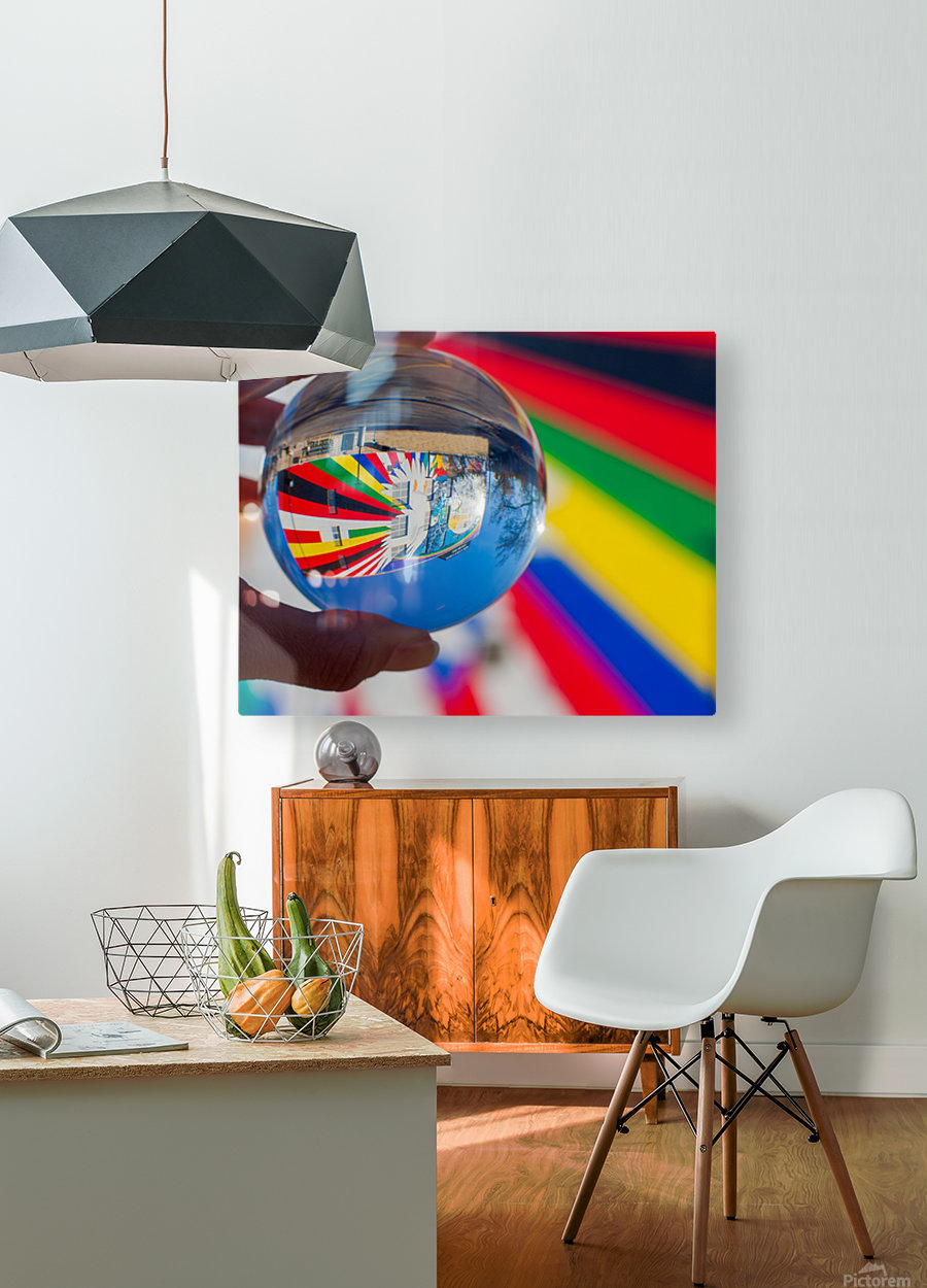 MKE Glass Ball Reflections  HD Metal print with Floating Frame on Back