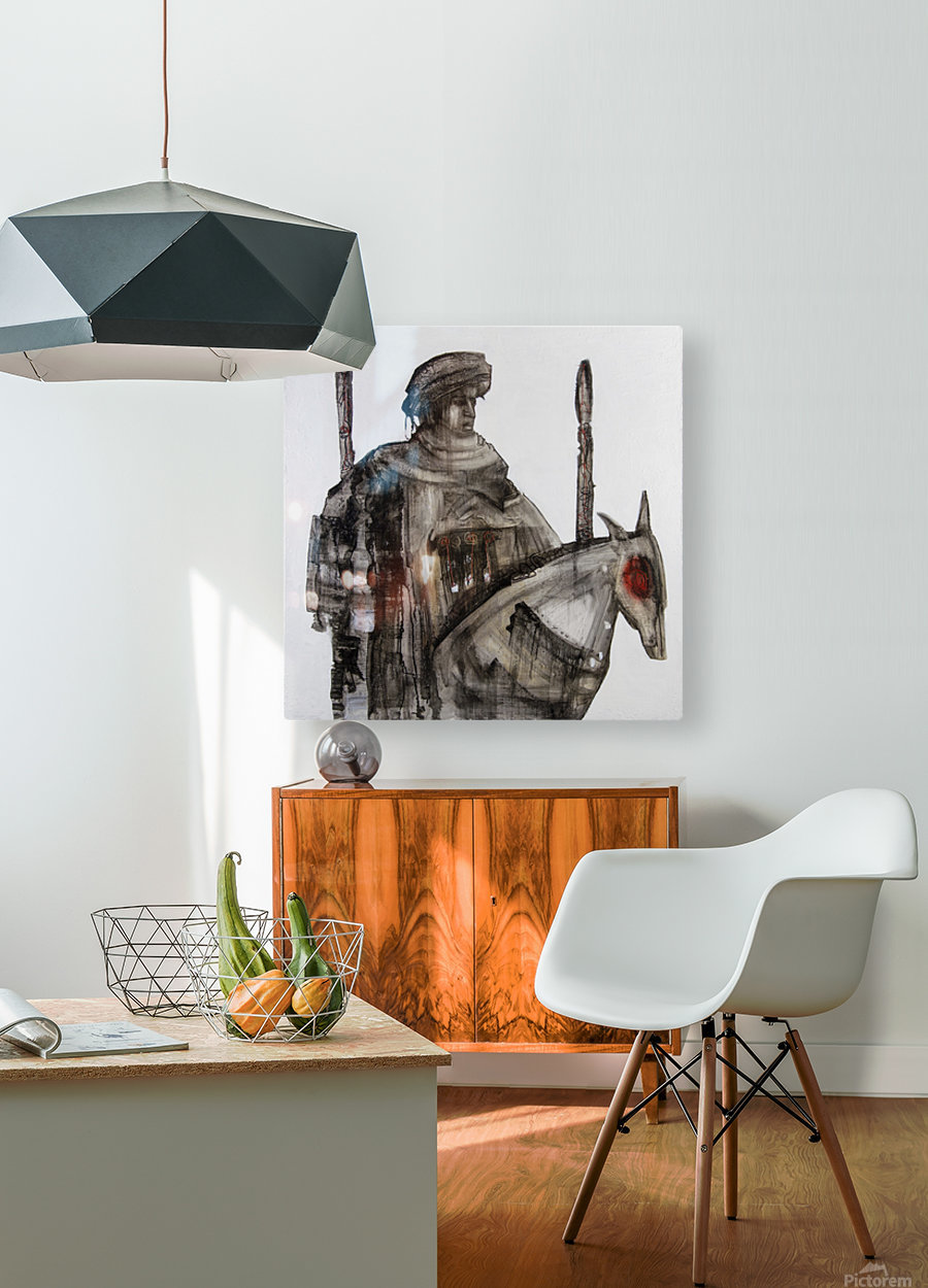 Shadow horserider 5  HD Metal print with Floating Frame on Back