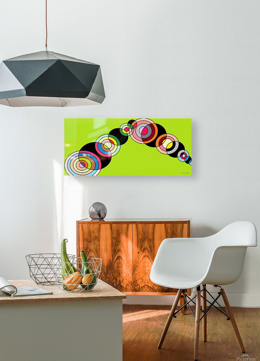 worm  HD Metal print with Floating Frame on Back