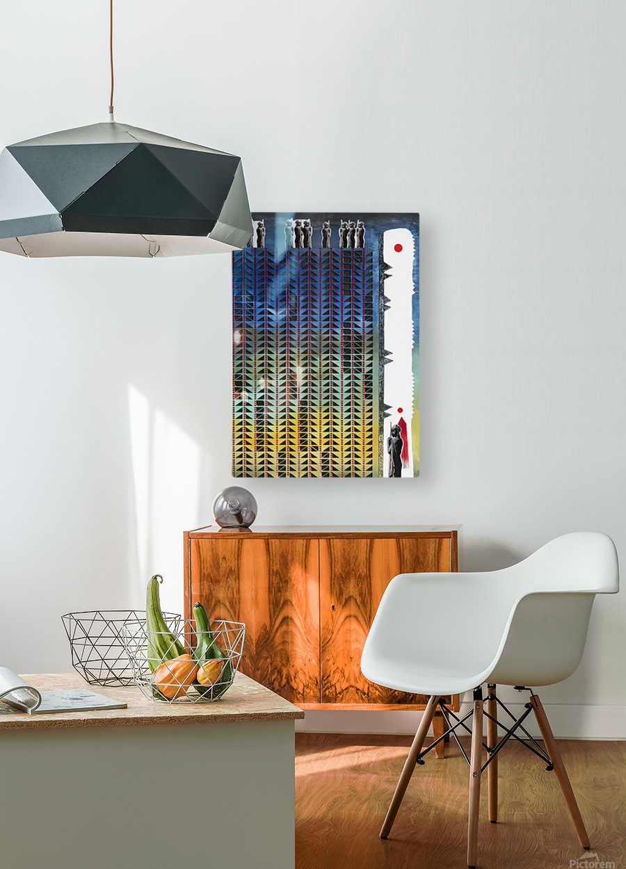 Mozaik 3-cubic  HD Metal print with Floating Frame on Back