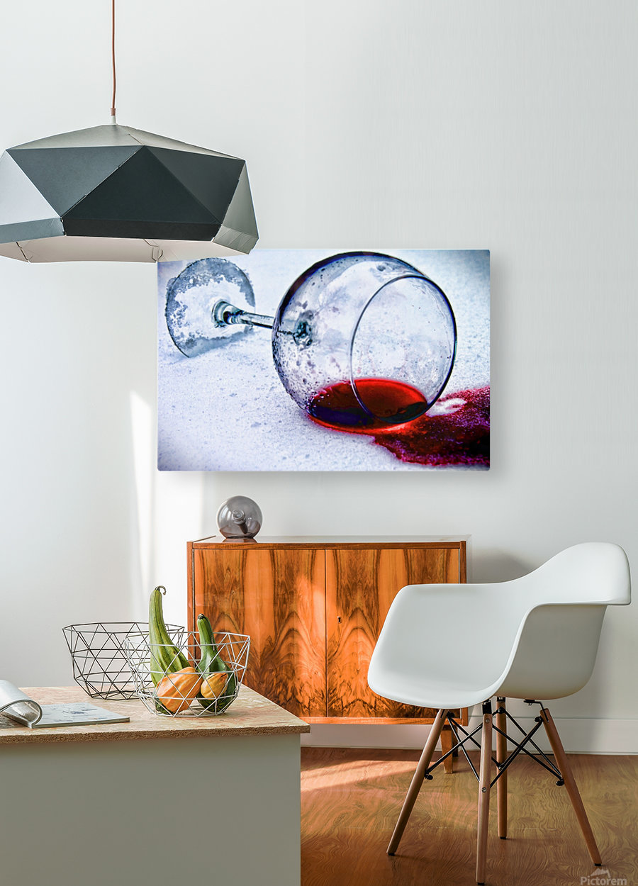 Wine Art 3  HD Metal print with Floating Frame on Back