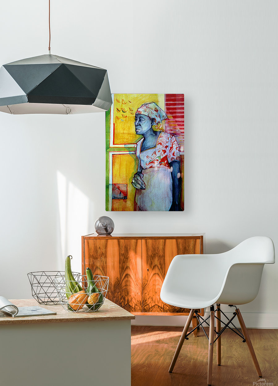 The wait  HD Metal print with Floating Frame on Back