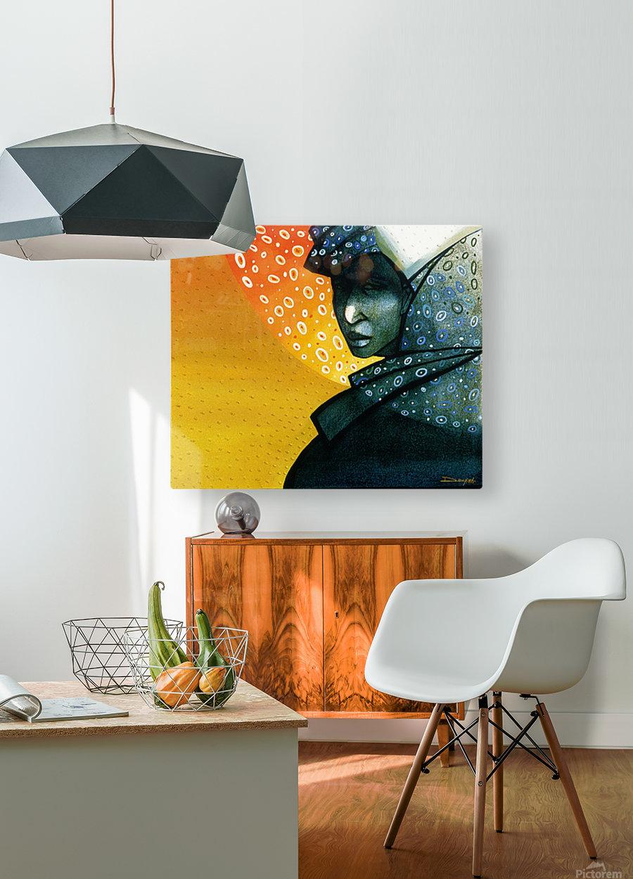 Femme soleil  HD Metal print with Floating Frame on Back