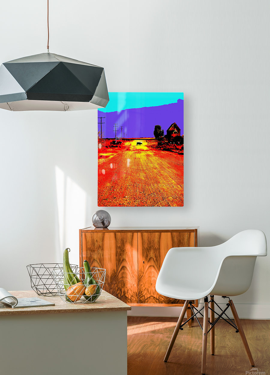 Cows Crossing - Outback Australia  HD Metal print with Floating Frame on Back