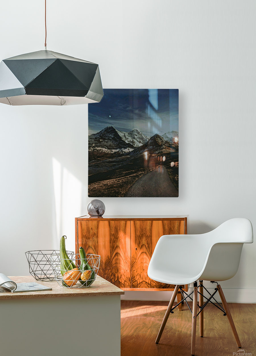 The Long Road Traveled  HD Metal print with Floating Frame on Back