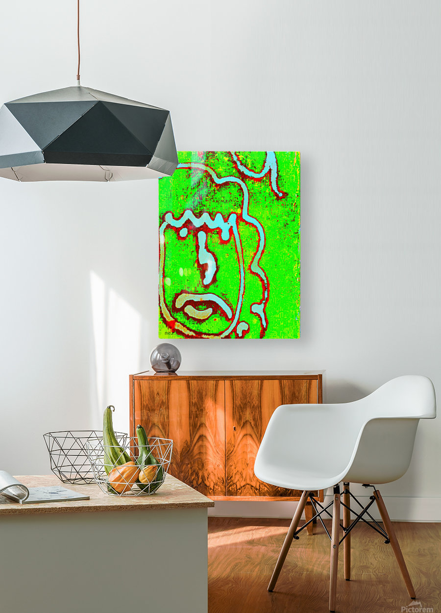 Graffiti  HD Metal print with Floating Frame on Back