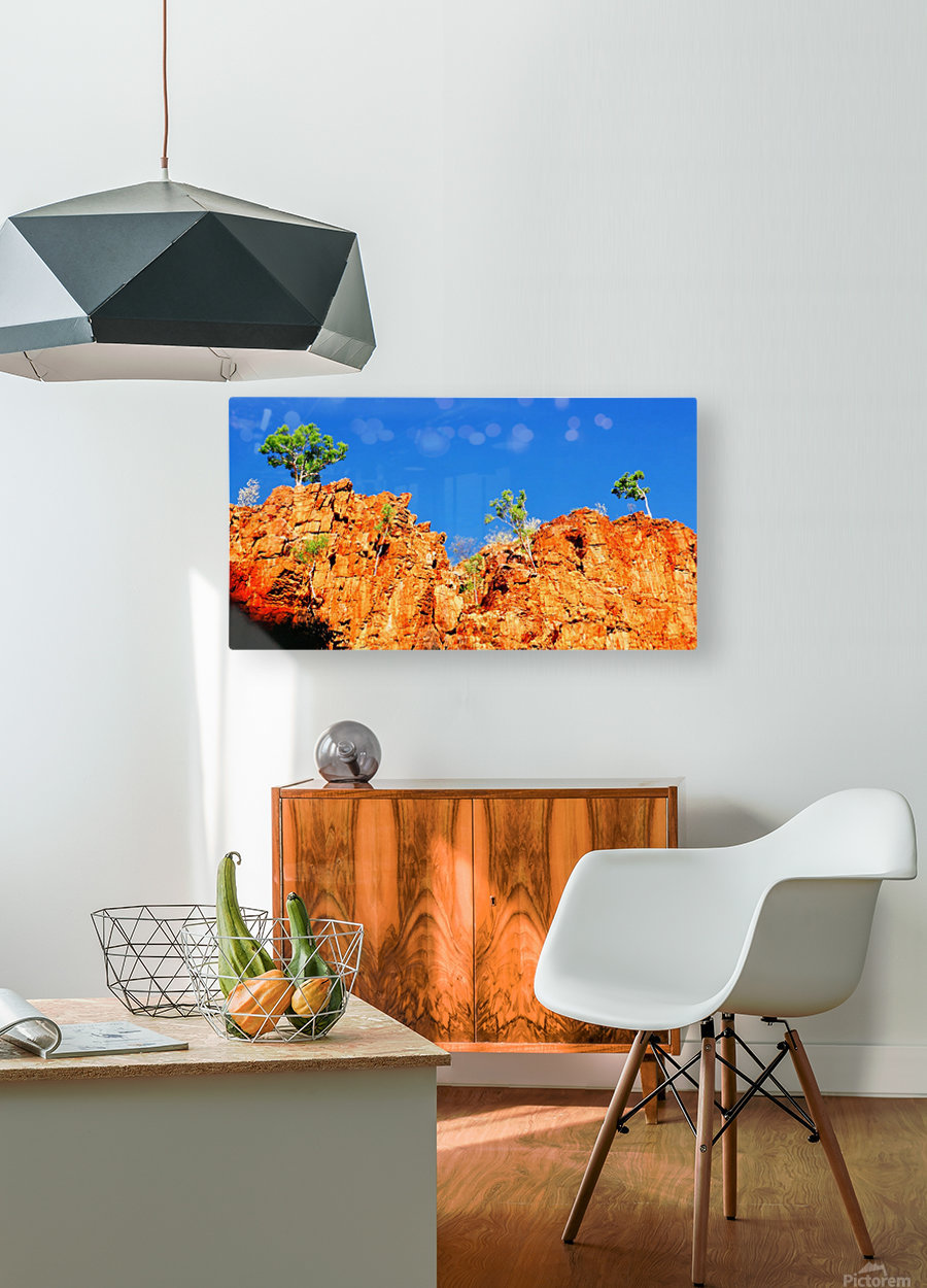 Skyline - Ormiston Gorge  HD Metal print with Floating Frame on Back