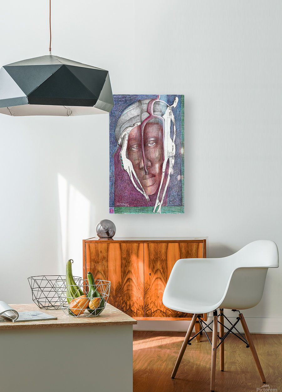 homme au turban  HD Metal print with Floating Frame on Back