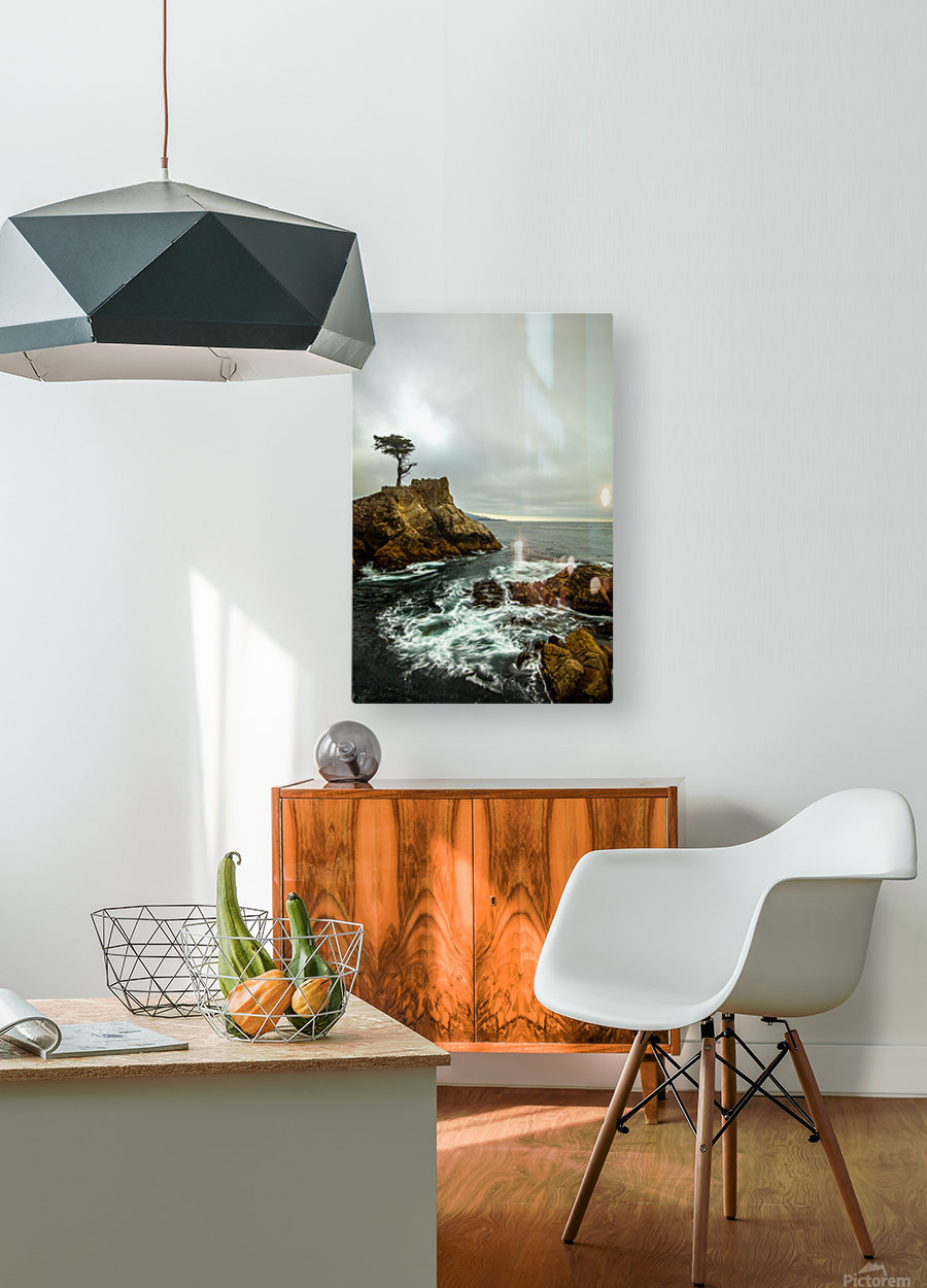 stormy  HD Metal print with Floating Frame on Back