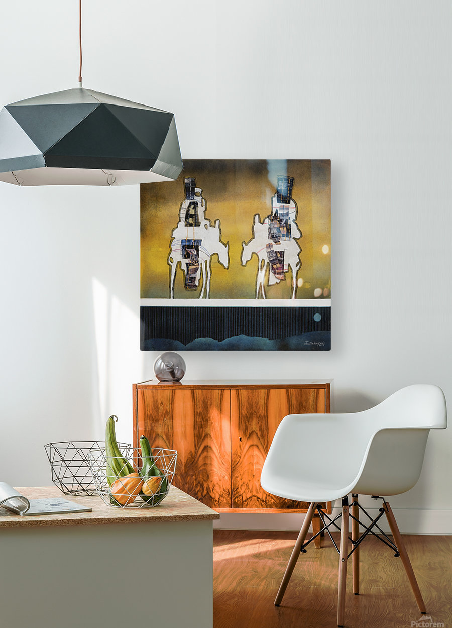 Donkey talk  HD Metal print with Floating Frame on Back
