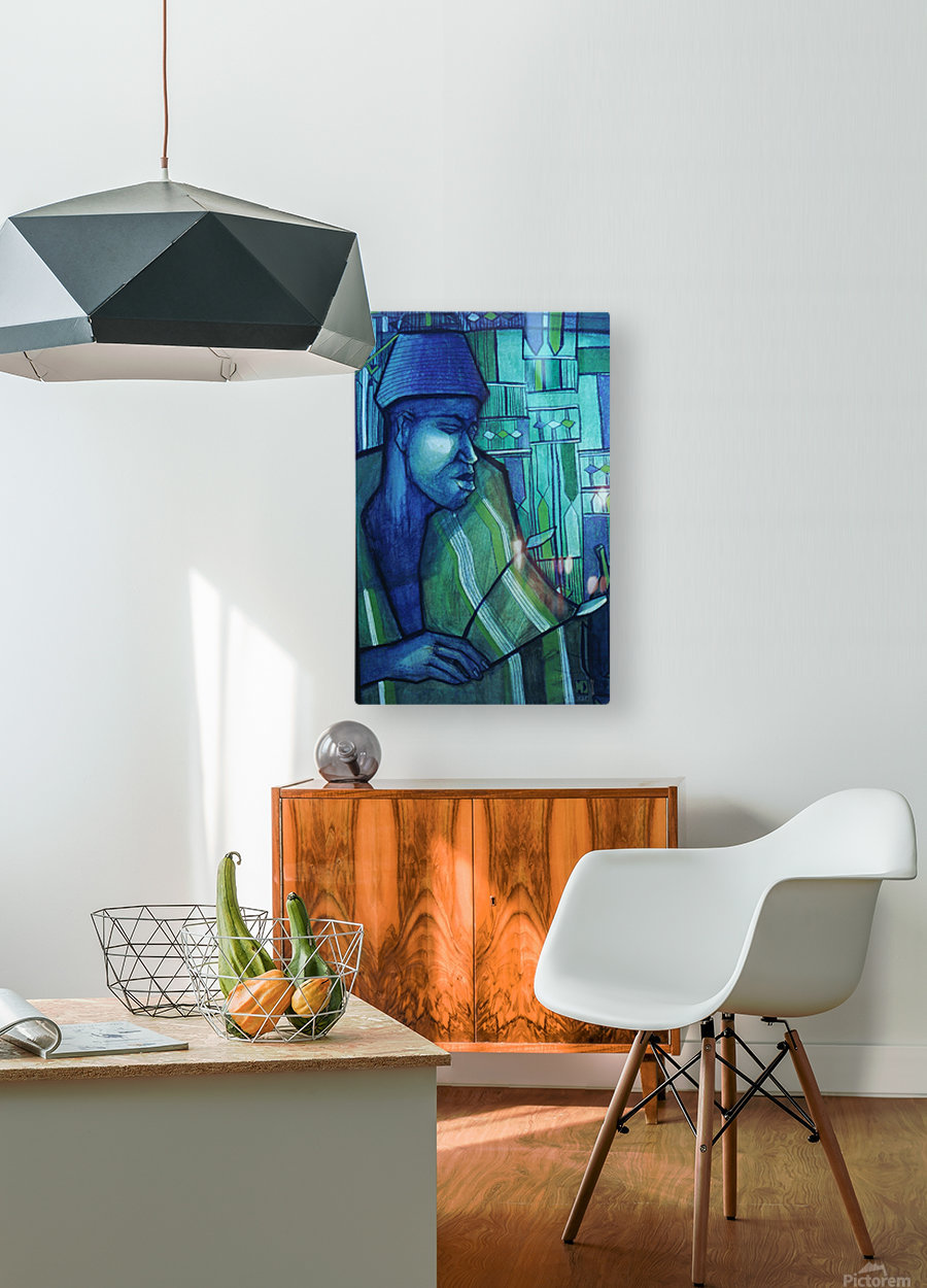 forgé de bleu  HD Metal print with Floating Frame on Back