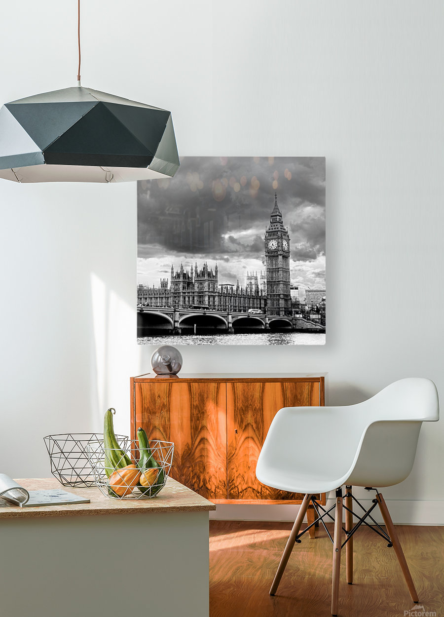 London Frozen in Time  HD Metal print with Floating Frame on Back