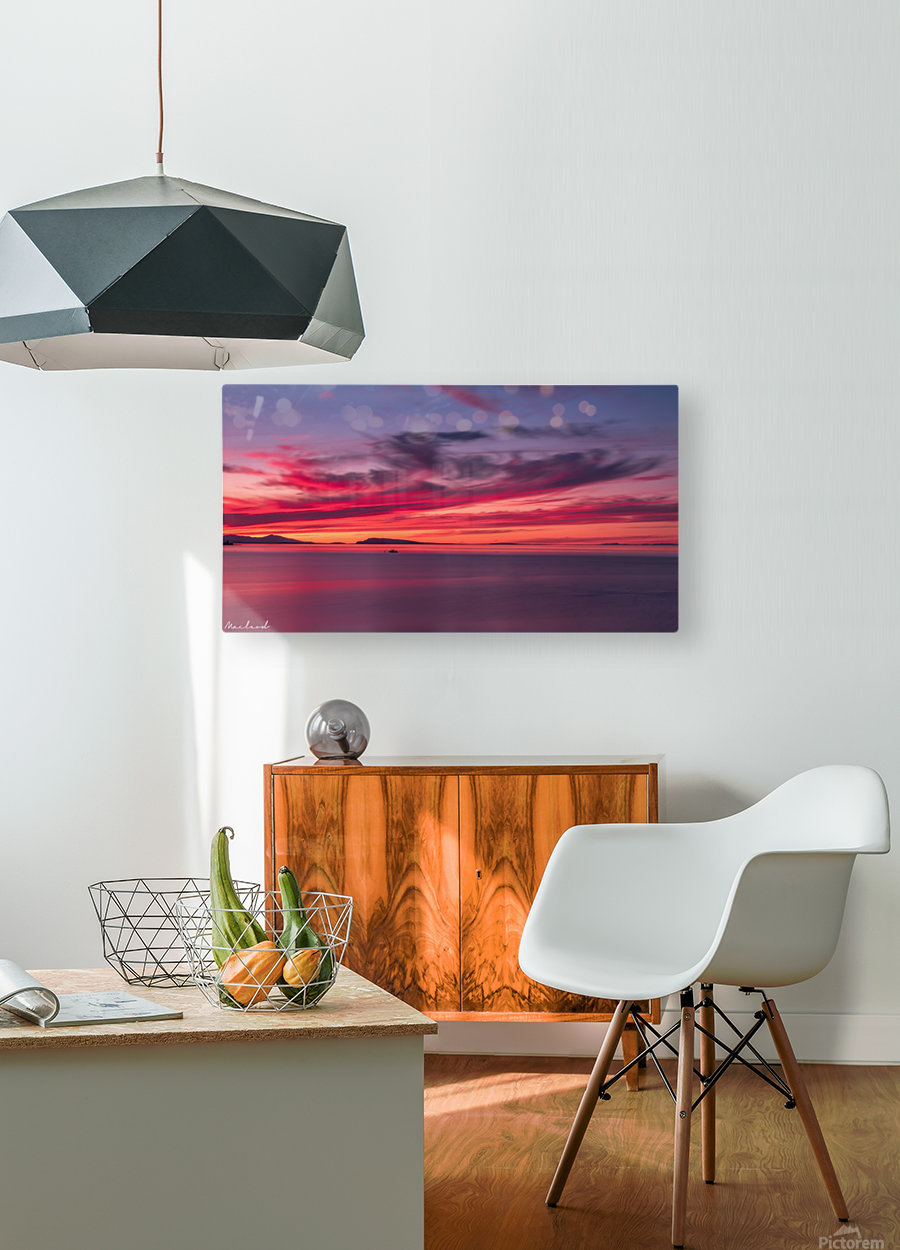 Late summer sunset DSC_3498  HD Metal print with Floating Frame on Back