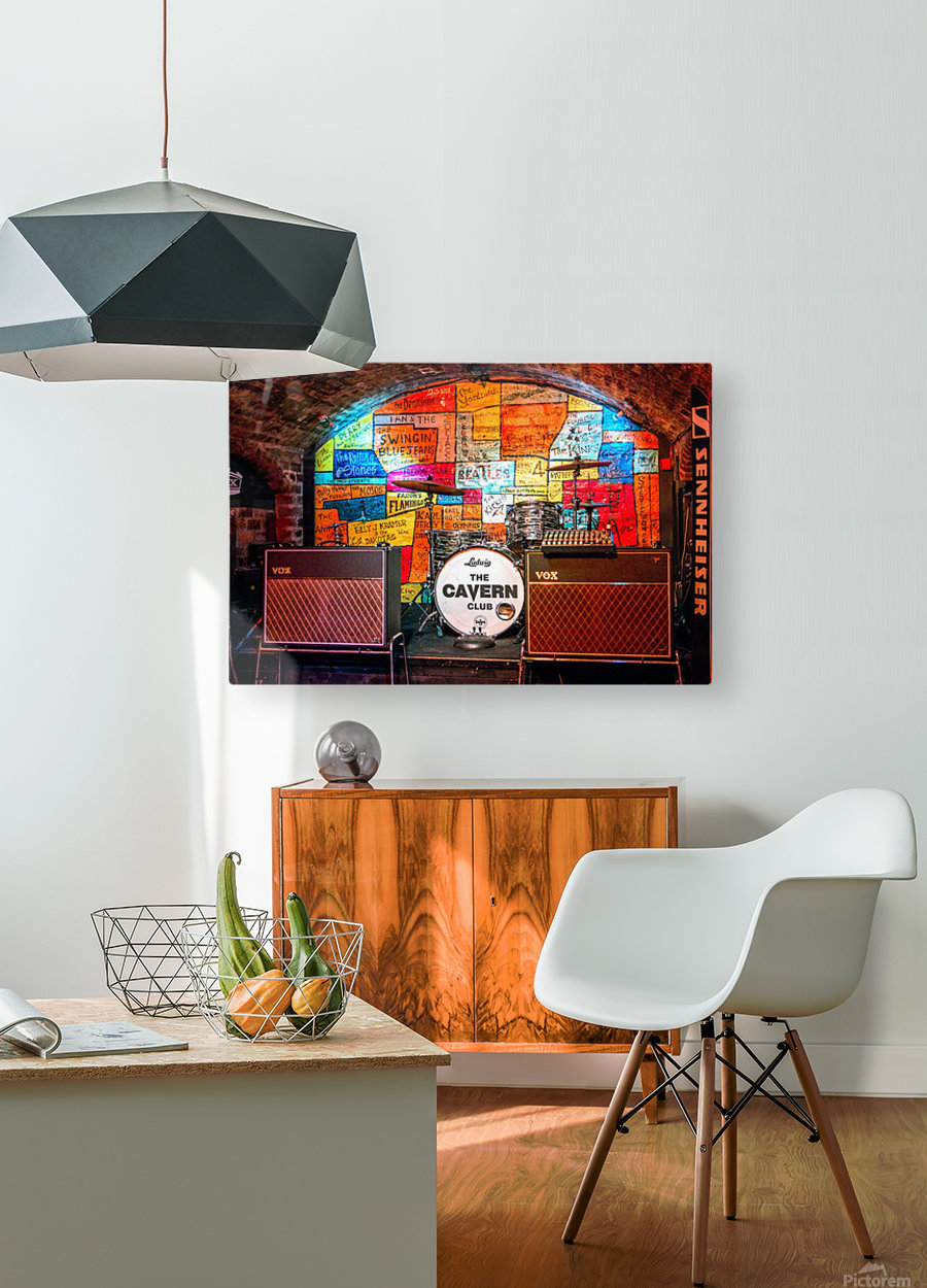 The Cavern  HD Metal print with Floating Frame on Back