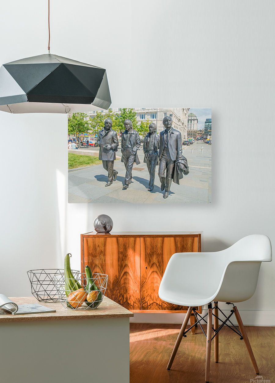The Beatles Statue  HD Metal print with Floating Frame on Back