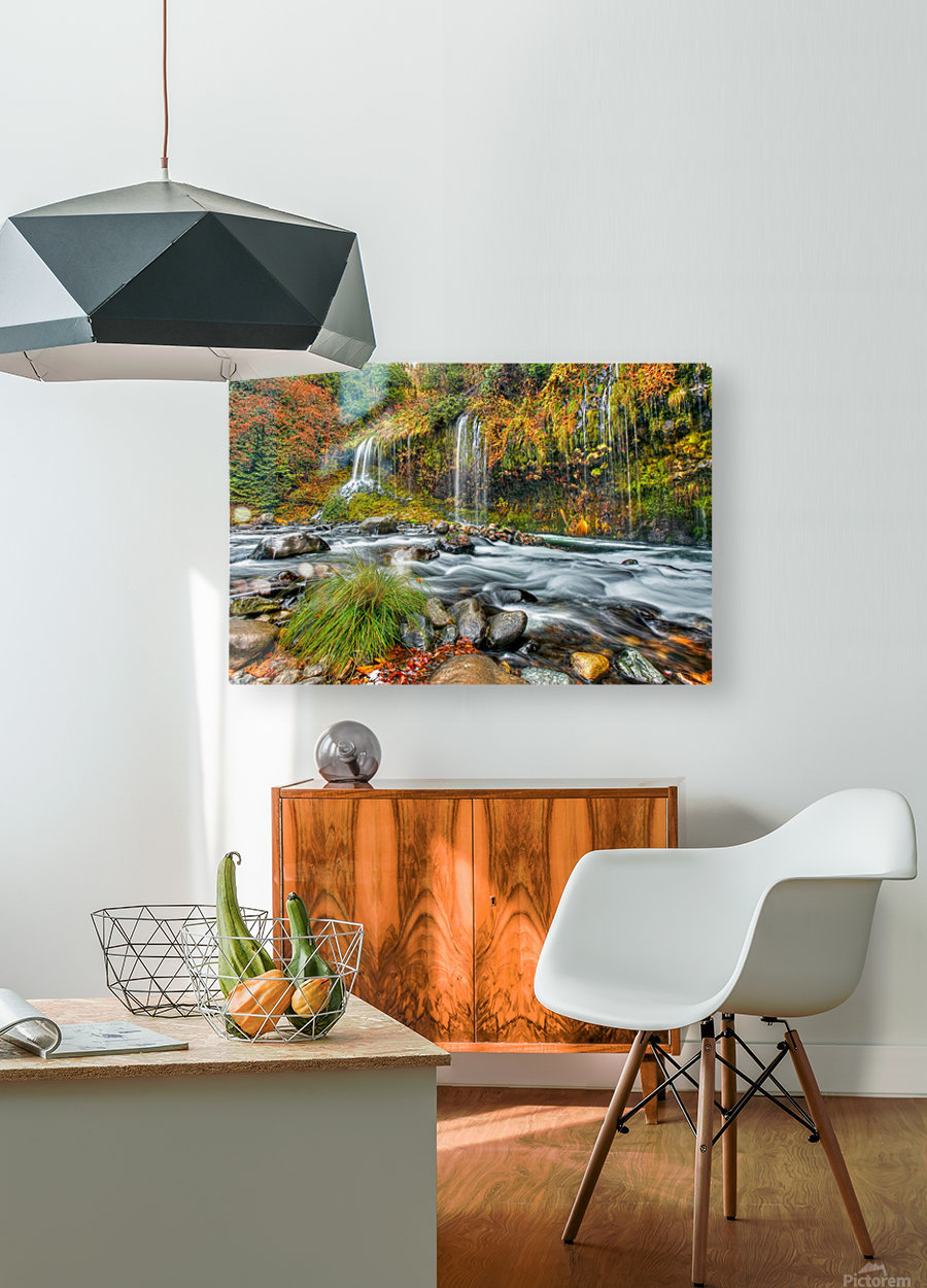 ColorFall  HD Metal print with Floating Frame on Back