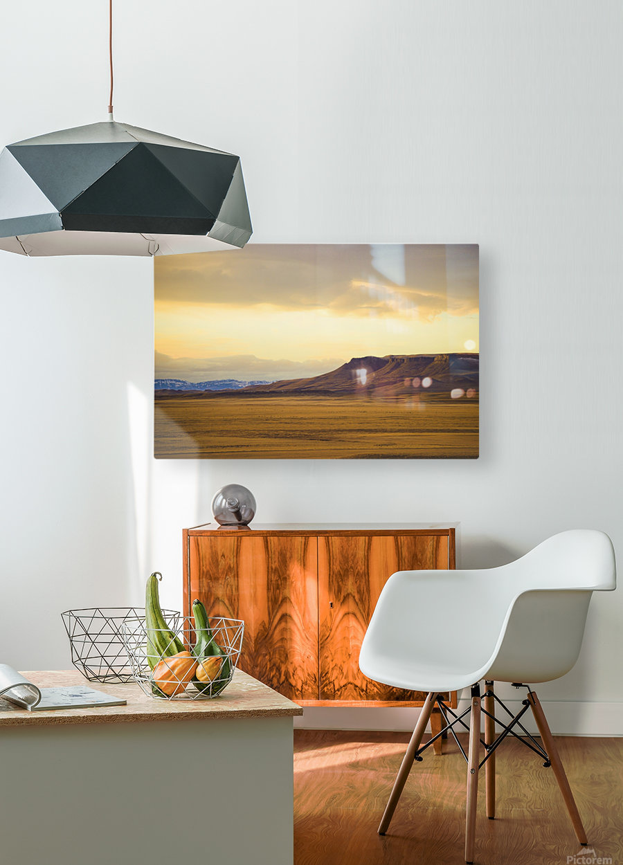 Square Butte  HD Metal print with Floating Frame on Back