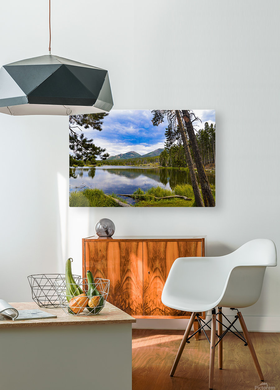 Sprague Lake  HD Metal print with Floating Frame on Back