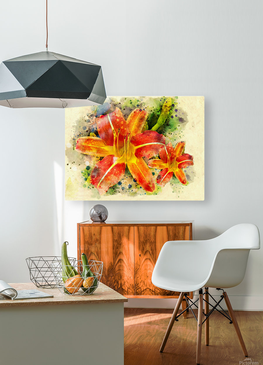Spring Flower  HD Metal print with Floating Frame on Back