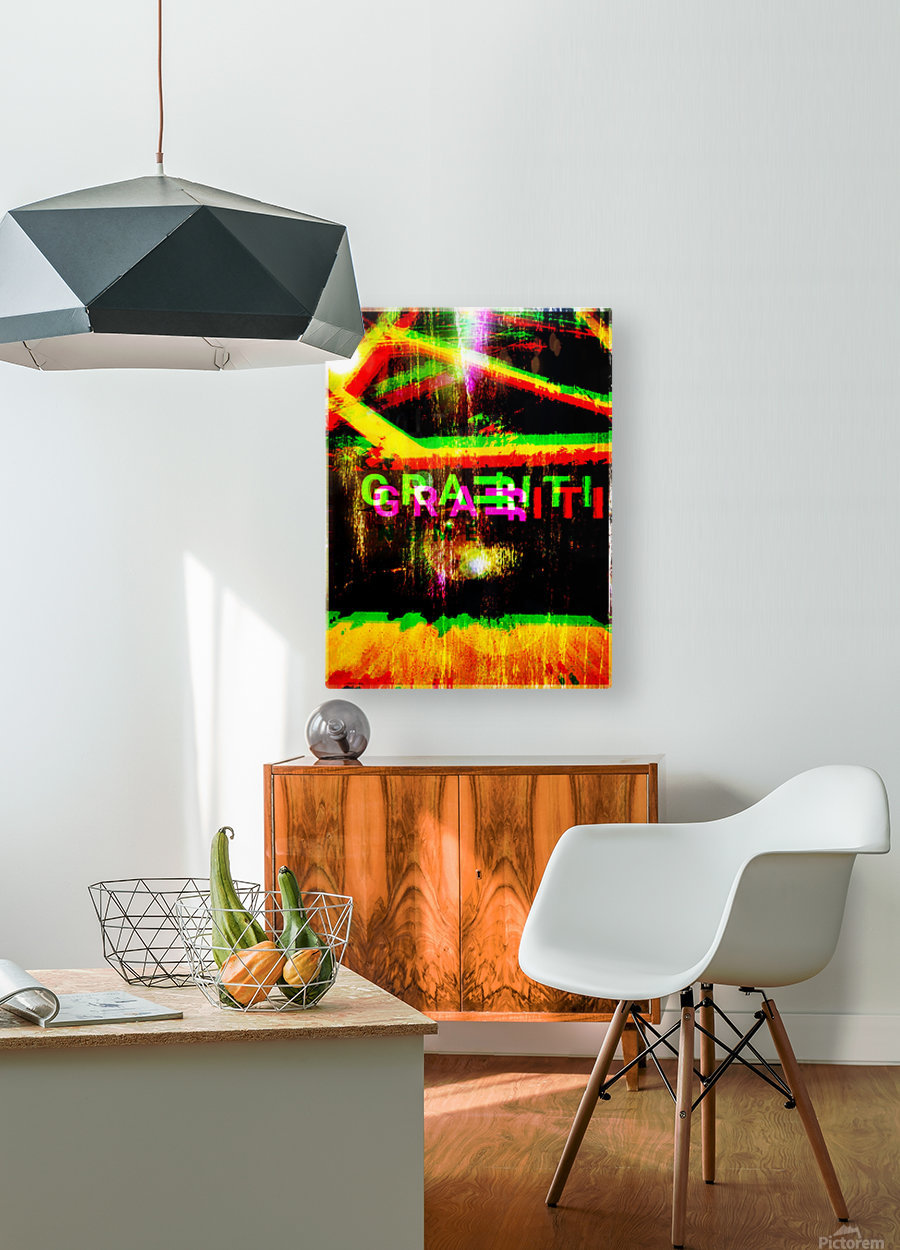GRAFFITI FOR PRESIDENTE  HD Metal print with Floating Frame on Back