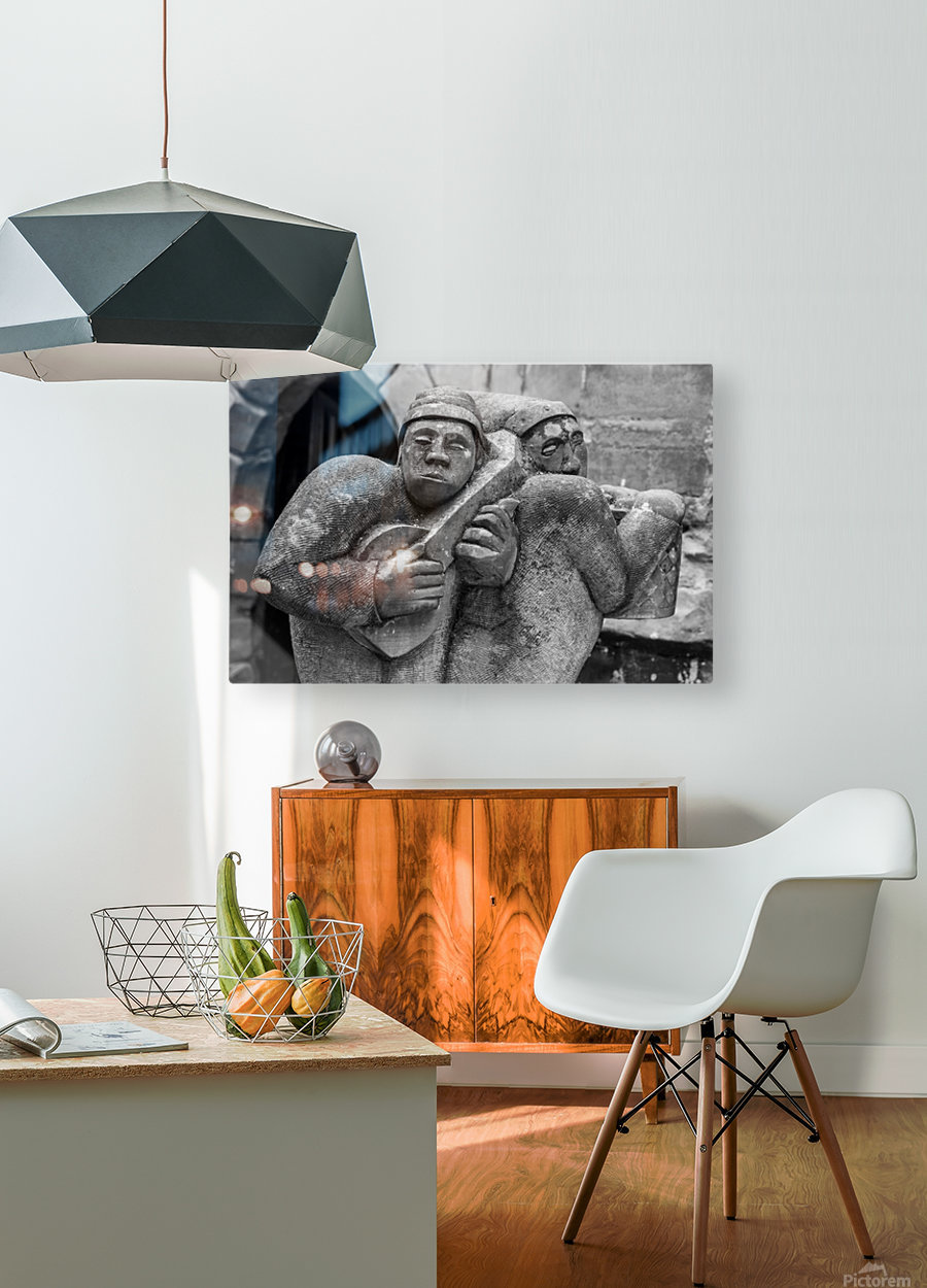 Musicians  HD Metal print with Floating Frame on Back