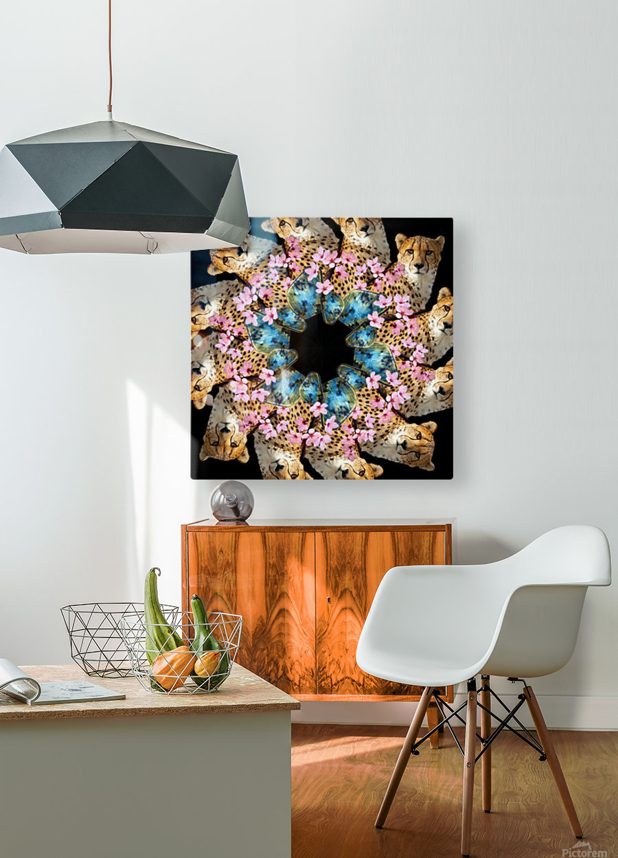 BAD KITTY -  HD Metal print with Floating Frame on Back
