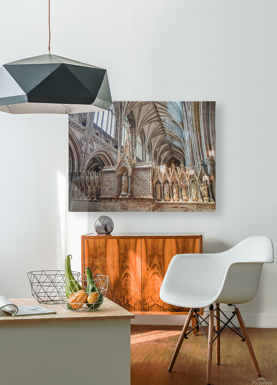 Litchfield Cathedral 3  HD Metal print with Floating Frame on Back