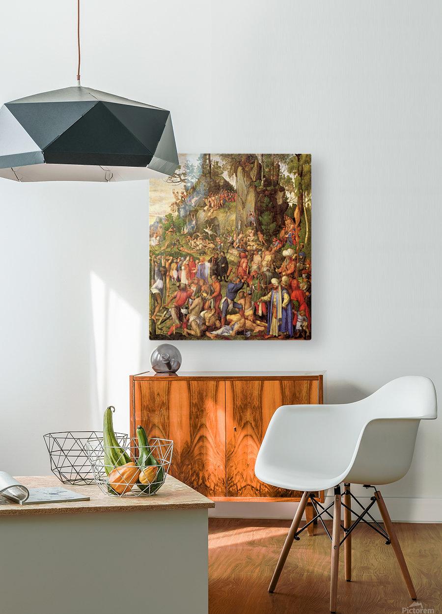 Marter der zehntausend Christen  HD Metal print with Floating Frame on Back