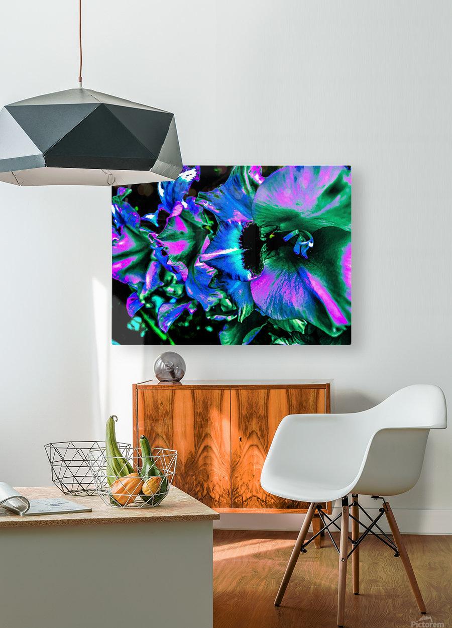 Explosion   Impression métal HD avec cadre flottant sur le dos