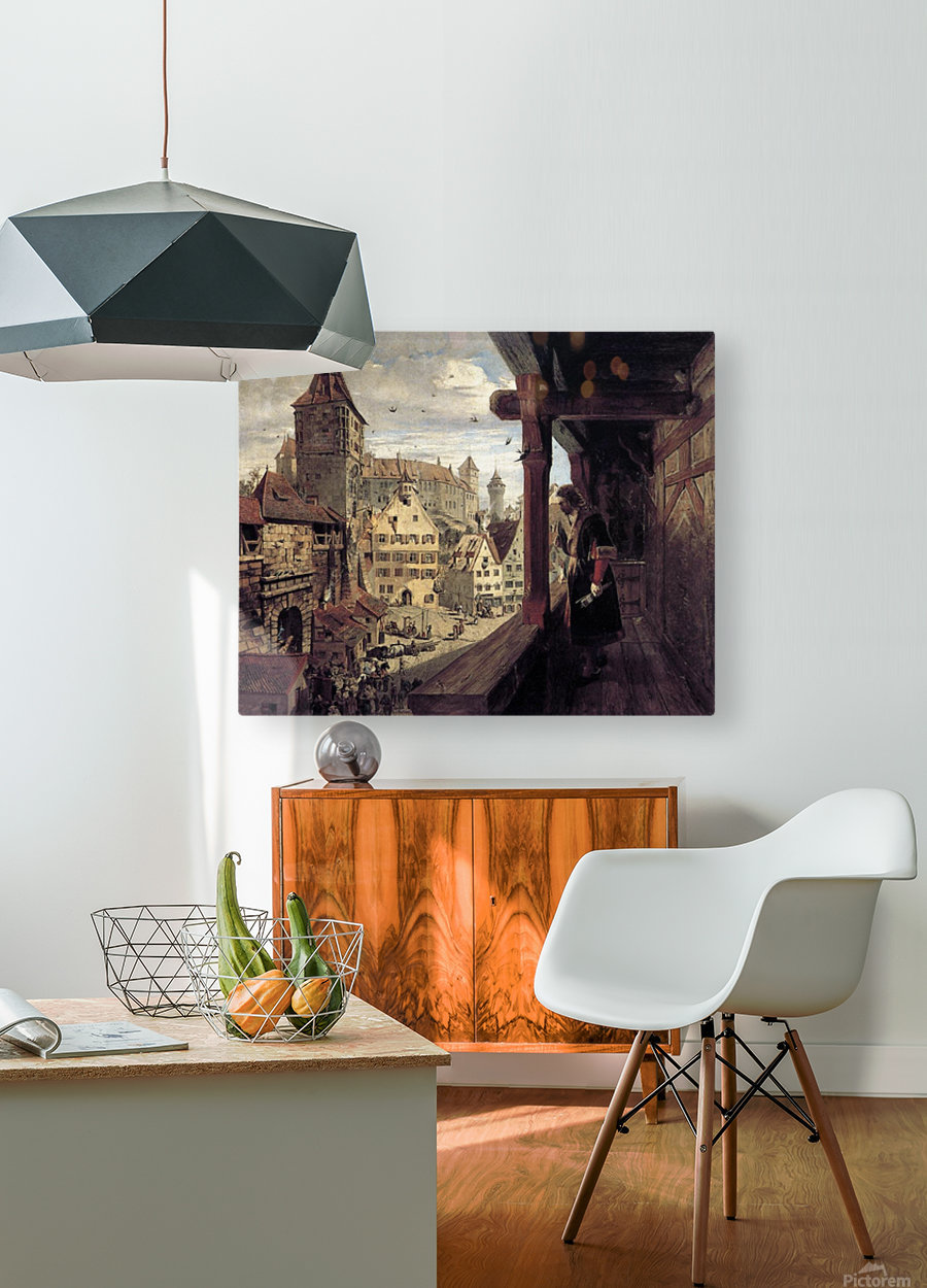 Albrecht Dürer on the Balcony of his House  HD Metal print with Floating Frame on Back
