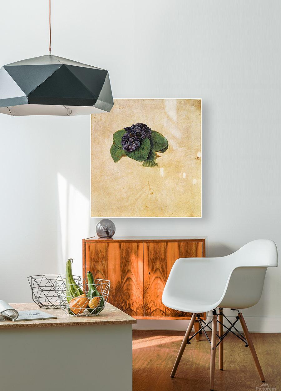 Violet Bouquet  HD Metal print with Floating Frame on Back