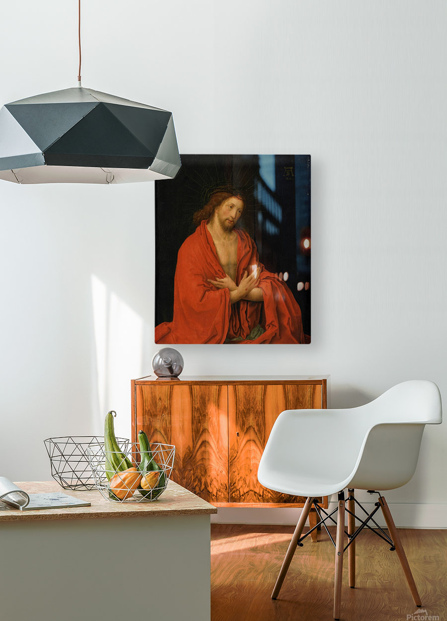 Christ crowned with thorns  HD Metal print with Floating Frame on Back