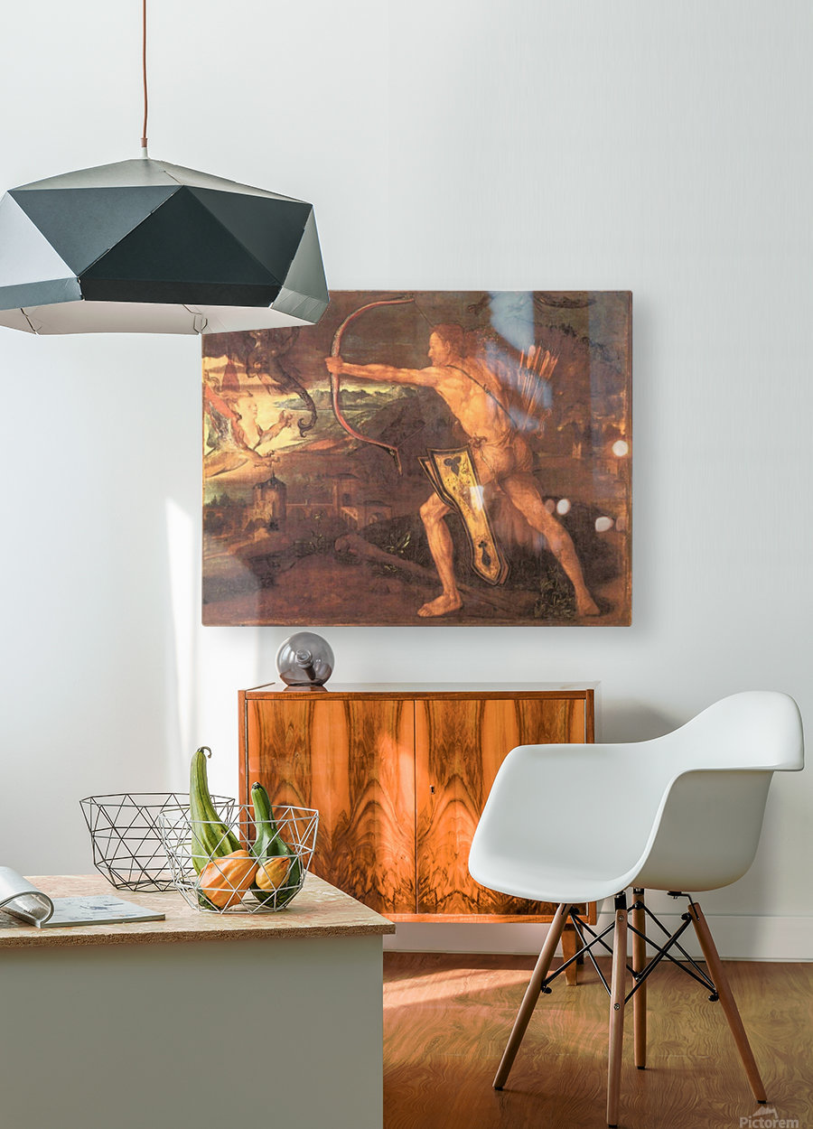 Hercules and the Stymphalian Birds  HD Metal print with Floating Frame on Back