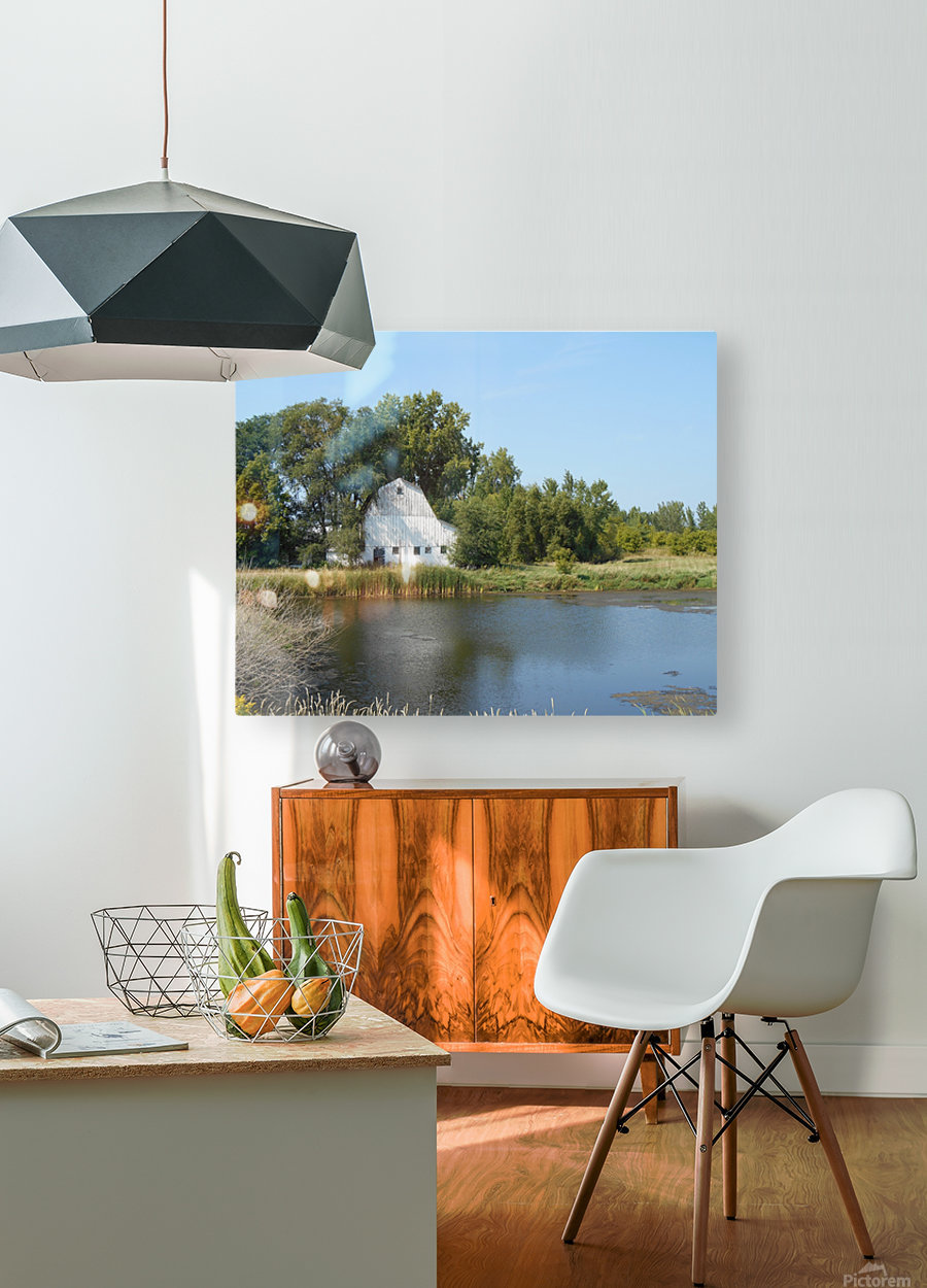 Peaceful Pond  HD Metal print with Floating Frame on Back