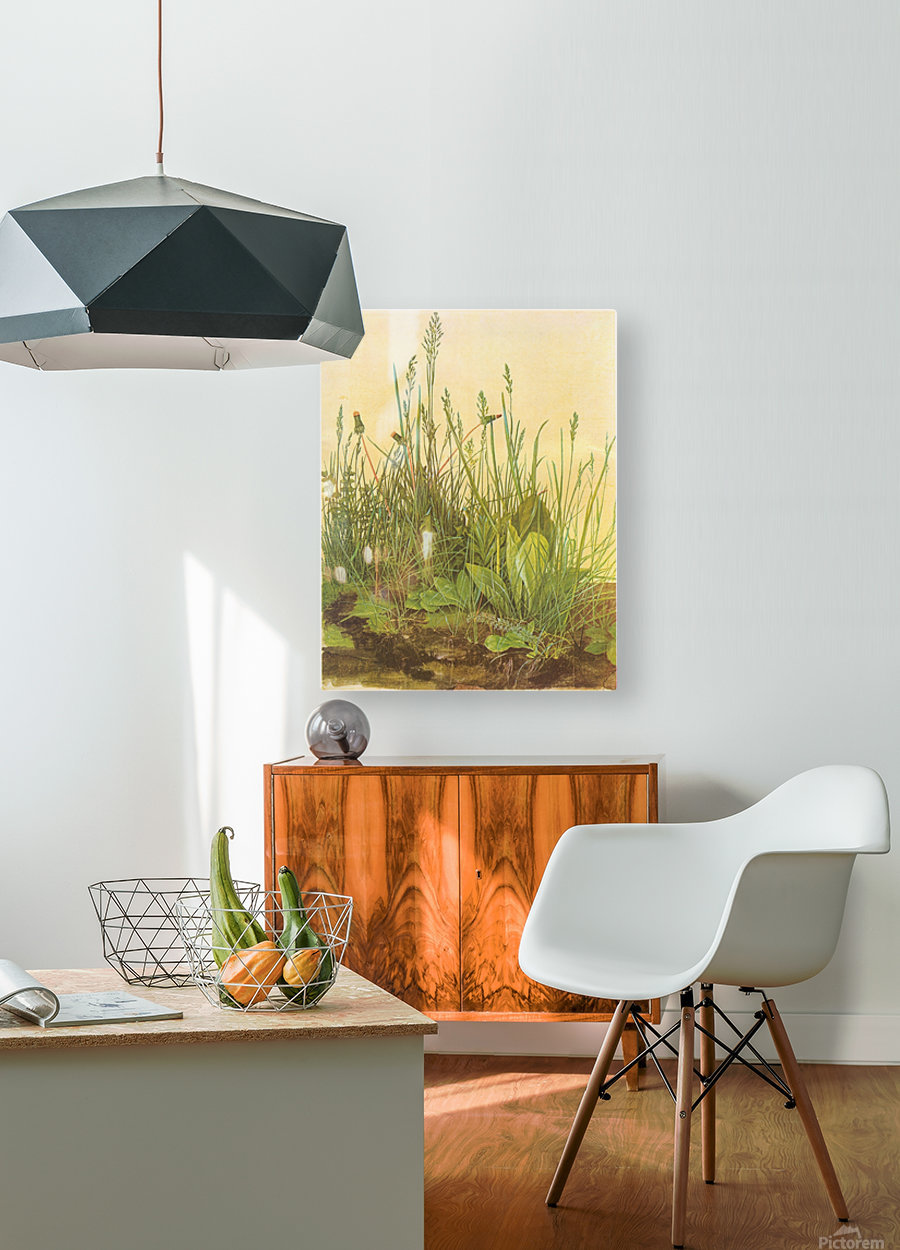 The large turf  HD Metal print with Floating Frame on Back