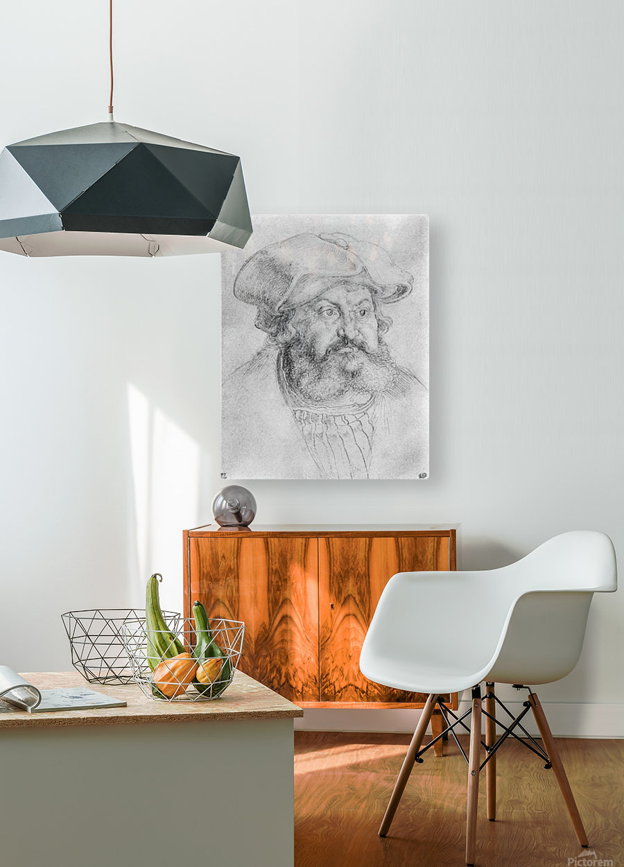 Portrait of Elector Friedrich the Wise  HD Metal print with Floating Frame on Back