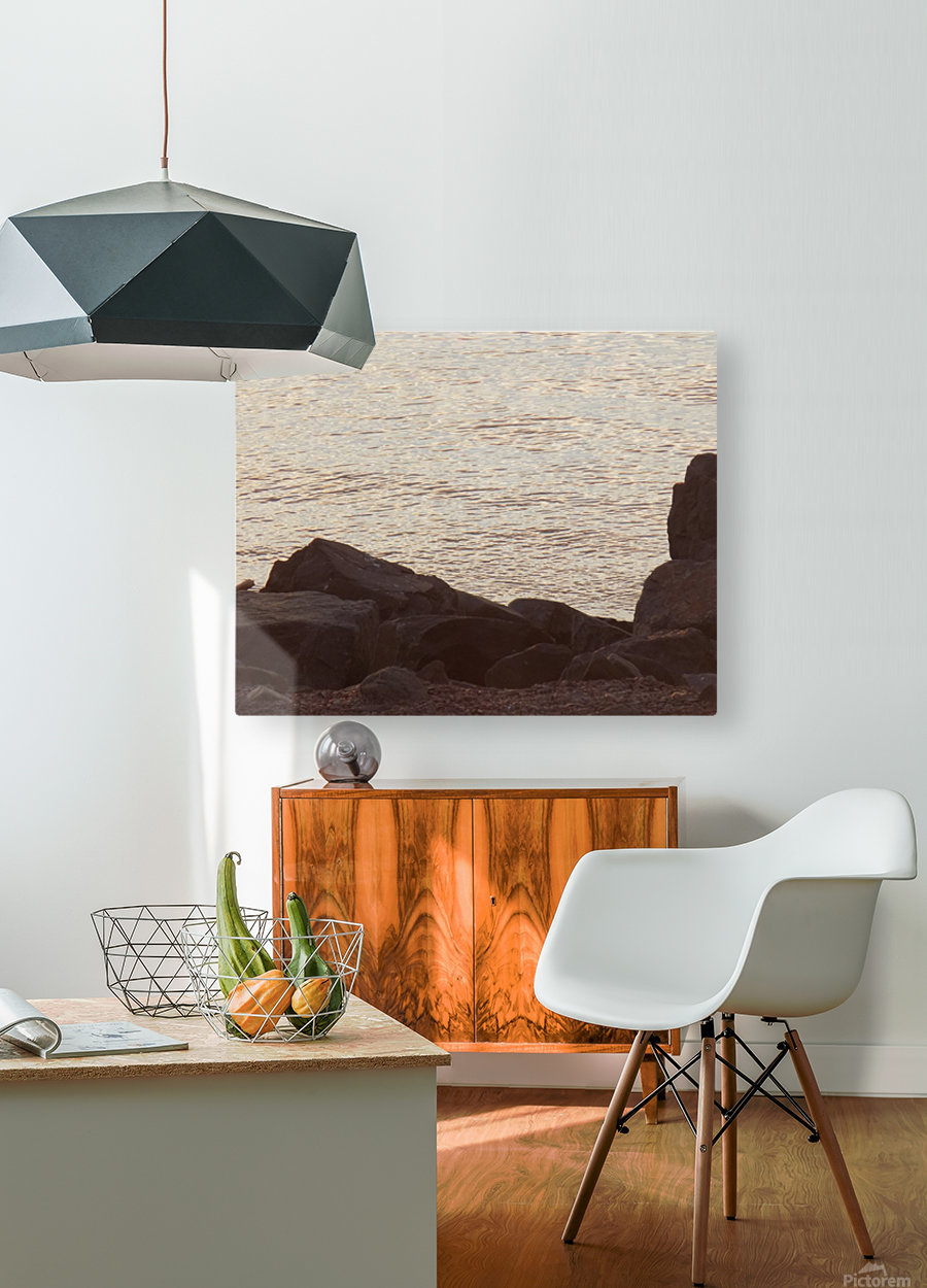 Rocky Shore 2  HD Metal print with Floating Frame on Back