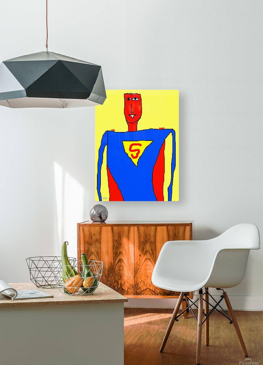 Superman Lite  HD Metal print with Floating Frame on Back