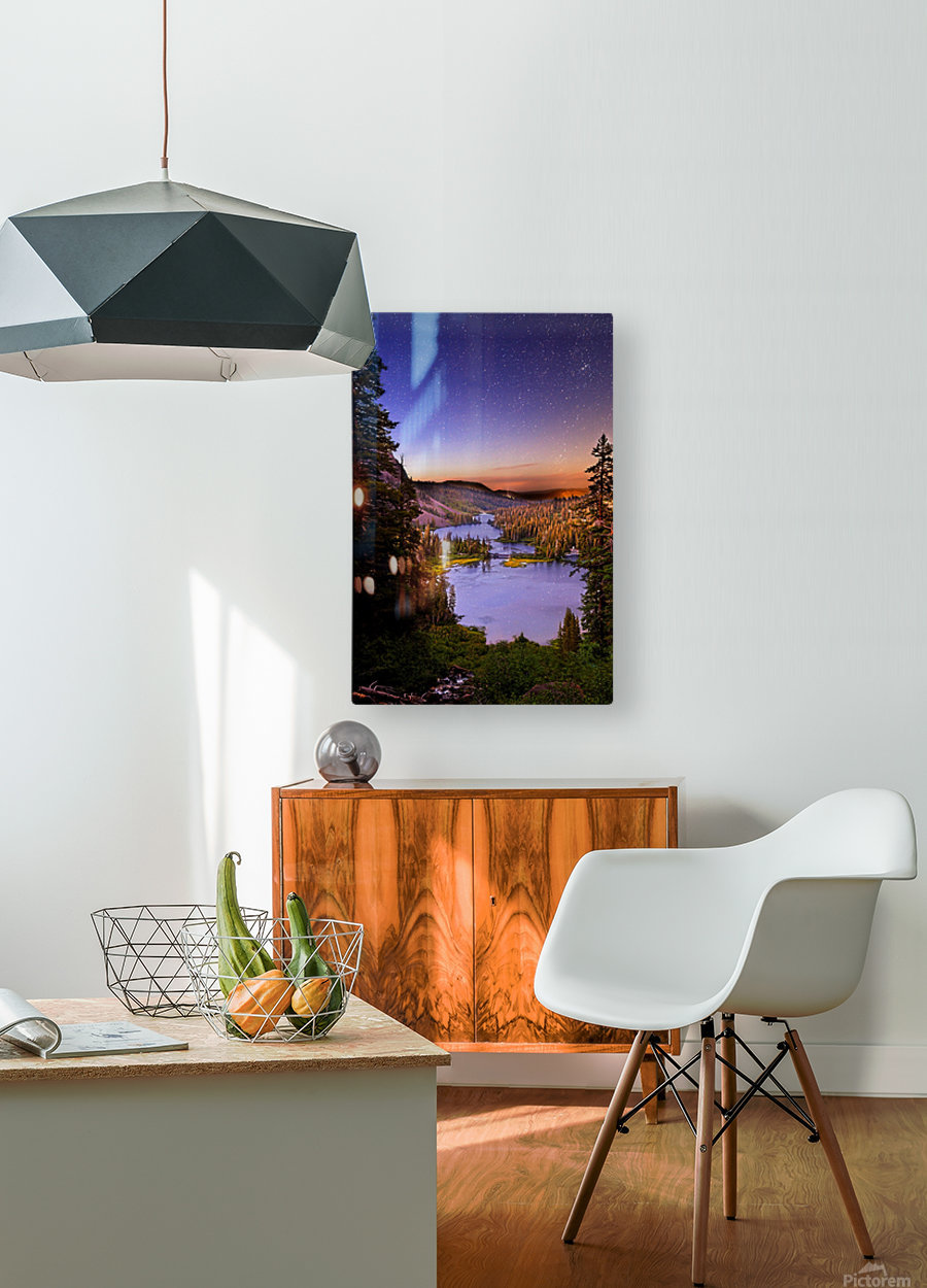Twin Magic  HD Metal print with Floating Frame on Back